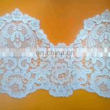 100 polyester lace fabric scalloped polyester lace trim for garment made in China