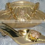 2012 new fashion design gold lady pump shoes