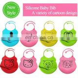 Wholesale more cartoon style silicone baby bibs