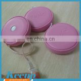Custom Logo PU Leather Folding Ruler Tape Measure Pink Bulk