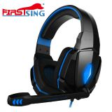 Firstsing Gaming Stereo Headset Earphone for Computer with Mic and LED Lights