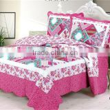 Bright color rose red flower printed cotton handmade patchwork patchwork quilts patterns