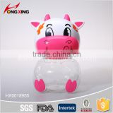 Cute Cow shaped plastic bottle toy candy box