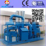 Wire and cable recycling machine, electric wire shredding and separating recycling machines