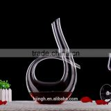 Taobao /alibaba low price of shipping to canada elegant Mouth Blown Clear glass flask /Glass Wine Decanter