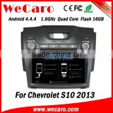 "Wecaro WC-CS8065 8"" Android 4.4.4 car stereo double din car dvd player for cheverolet s10 d-max 2013 WIFI 3G tv tuner 2013"