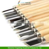 12 Piece Wood Carving Carvers Working Chisel Hand Tool Set WoodWorking Chisels