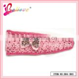 America hot sale favorite no fade animal print crochet bow headband girls' nice hair band (584-585)