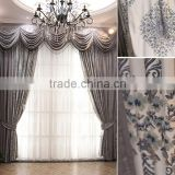 European high-grade thick chenille jacquard curtains the living room bedroom embroidered curtain grey color curtain                                                                         Quality Choice