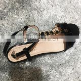 ladies new design korean styl italian ladies flat leather high quality ladies sandals pictures