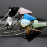 JF6751 Gemstone Crystal Quartz Point Pendulum Pendants,Crystal Point Pendant with Silver Bail                                                                         Quality Choice