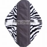 pul fabric bamboo charcoal cloth ladies sanitary pads / cloth menstrual pad                                                                         Quality Choice