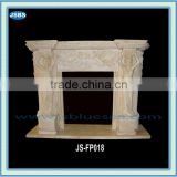 Marble fireplace with angel statue