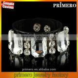 New Vintage Crystal Flower PVC bracelets & bangles For Women Fashion Designer Jewelry