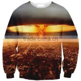 top qulity poly fleece sweatshirt,custom top quality poly/cotton sublimation sweat shirt/fashion wear poly cotton made sublimati