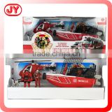 ABS material fire rescue toys play set