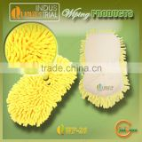 Simple design car wash chenille mitt glove with simple design for sale
