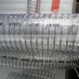 Weifang Alice best price for ISO 9001 1/2-8 inch flexible clear steel wire reinforced PVC hose