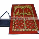 foldable muslim pocket prayer rug with bag BT-279