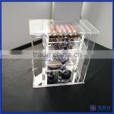China factory high quality acrylic jewelry & cosmetic storage display boxes / acrylic jewelry display box