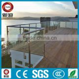 side mounted glass outdoor metal handrail for steps