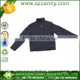 Men's black plain waterproof polyester windbreaker jacket