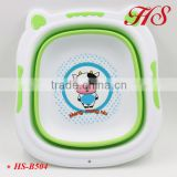 Lovely cartoon design multifuntional portable foldable plastic basin Baby bath tub clothing basin wash basin
