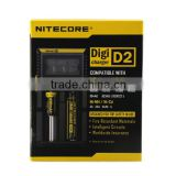 Alibaba China Supplier Hottest Original Nitecore D2 Battery Charger 18650 26650 Battery Charger US/EU/UK Plug With LCD Display