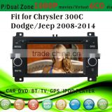 touch screen car dvd player fit for Jeep new Chrysler 300C Dodge 2008-2014 with radio bluetooth gps tv pip dual zone