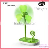 USB mini fan /desktop mini battery cool fan ,handy portable USB fan with mobile phone holder
