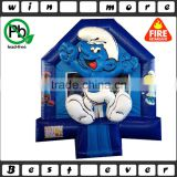 blue used commerical cheap bounce houses kids playhouse and toy for sale