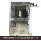 New coming OEM design wall mounted dressing mirror with etched bubbles