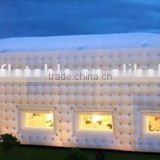 Used inflatable cubic party tent for sale, inflatable white cube tent for events, giant outdoor inflatable tent