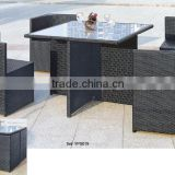 aluminum outdoor furniture waterproof space saving rattan garden sofa set YPS019