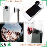 special shots fish-eye wide-angle macro 3 lenses combo portable for mobile photography