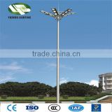 9m high quality sand cast aluminum lighting pole steel pole manufacturer high mast lighting