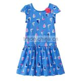 Summer new styled frock short sleeve design cotton dress for baby girl wholesale kids summer dress