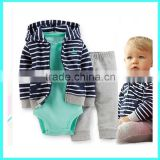 Hot selling Baby Boy Clothes Boutique boys bodysuit pant set Children's Hoodies                                                                         Quality Choice