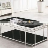 PT-T014 glass top centre table living room furniture centre glass table glass centre table designs