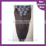 double weft clip in human hair extensions for black women 30 inch
