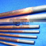 Round copper-coated carbon electrodes