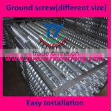 Ground screws for solar mounting