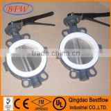 Wafer center line cast iron soft sealing butterfly valve