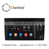 7 inch android 4.4 quad core DVD GPS navigation system for Audi A4 S4 with mirror link OBD