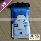 Chinese factory production pvc waterproof phone case ,Phone Waterproof Bag with cartoon printing