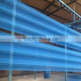 Hot dip galvanized corrugated metal fence panels