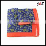 new arrival high quality paisley pattern linen pocket square