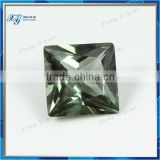 2014 New Arrival!! Beautiful 149# Green Spinel Gemstone 8X8 mm Princess Cut Green Synthetic Spinel