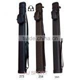 1/2 Leather foam cylinder billiards cue case