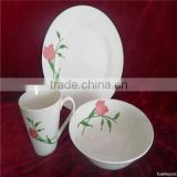 2016 canton fair supplier ceramic plate set , ceramic cookware sets , porcelain ware set